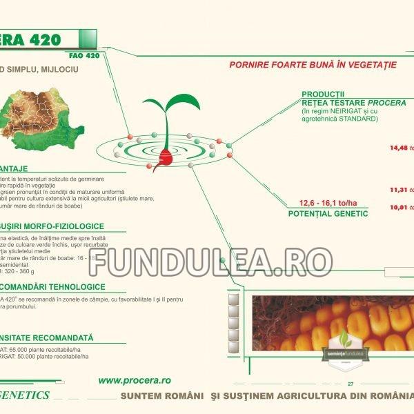 Samanta porumb Procera CERA 420 (FAO 420)